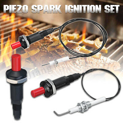 For Gas Grill BBQ Universal Piezo Spark Ignition Set Cable Push Button Igniter