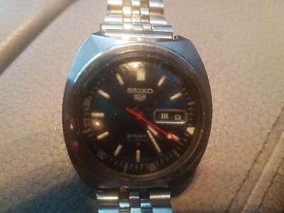SEIKO 5 Sports 6119-6023 Stainless Steel 70M Waterproof Rare Diver Watch c. 1970