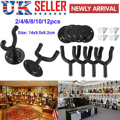 Padded Guitar Display Wall Hanger Bracket Hook Bass Electric Acoustic Ukelele UK