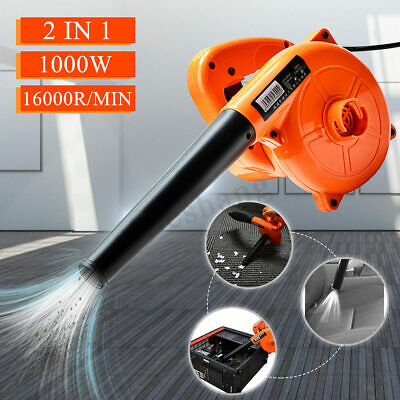 1000W Electric Air Blower Hand Operated Car Computer Vacuum Dust Cleaner 220V