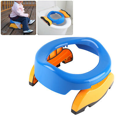 Kids Potty Training Travel Portable Foldable Toddler Toilet Safe Seat Plastic UK