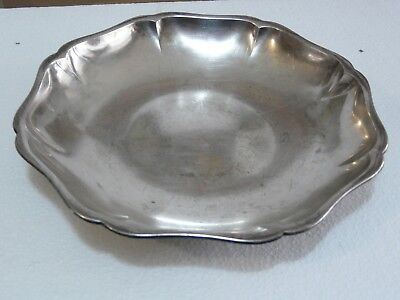 Rare Vintage Ww2 Period Wmf Germany Silver Plated Scalloped Edge Tray