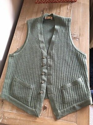 Vintage / Antique Mens Wool Knitted Waistcoat by CoxMoore