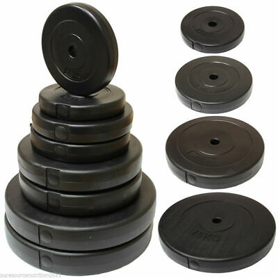 """1"""" Hole Vinyl Weight Plates/Discs Home Gym Training/Lifting Dumbbell/Bar Weights"""