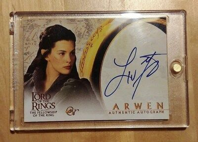 Topps Arwen Authentic Autograph Card Herr Ringe Lord Rings Liv Tyler Autogramm