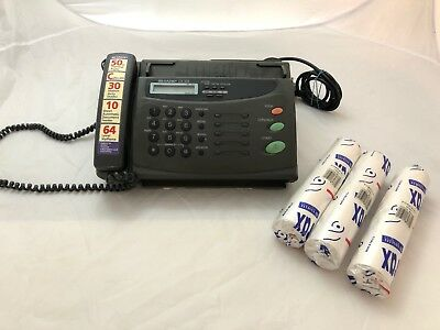 Sharp Telephone fax machine With Extra Paper Rolls 80428 / Tested Working