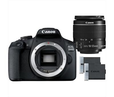Fotocamere reflex CANON - EOS 2000D + EF-S 18-55 MM IS II BATTERY KIT Black
