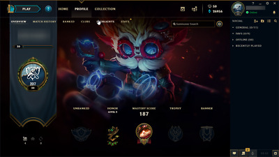 League Of Legends Account no email access 80 Champs 49 Skins UNRANKED SMURF