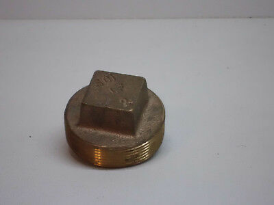 """2"""" Smith Cooper International SCI Red Brass Raised Plug  (Lot of 2) FREE S&H"""