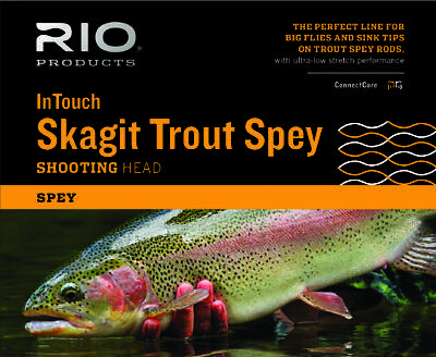 RIO InTouch Skagit Trout Spey Shooting Head - 275gr - New