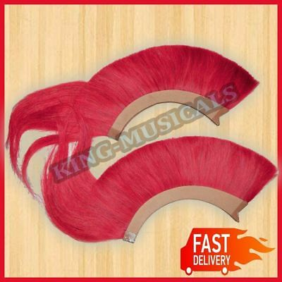 Red Plume Red Crest Brush New Natural Horse Hair For Greek Corinthian Helmet