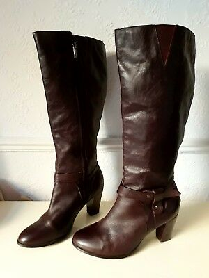 a08a6503971d Ted   Muffy   Duo Brown Leather Knee High Boots Size UK 5 EEE Extra Wide