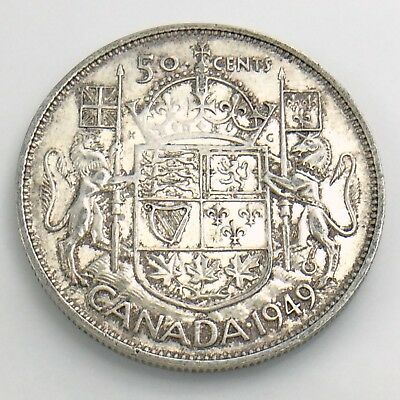 1949 Fifty 50 Cent Canada Half Dollar Circulated Canadian Coin H856