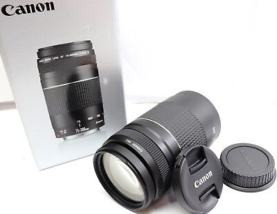 NEW Canon EF 75-300mm f4-5.6 III Telephoto Zoom Lens for Canon SLR Cameras