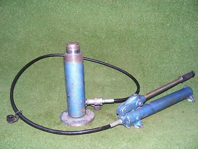 Hydraulic Hand Pump And Ram Working Order