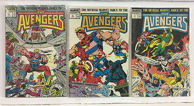 Avengers The Official Marvel Index to the Avengers #3,4,5 Total 3 Comics 9.8 NM