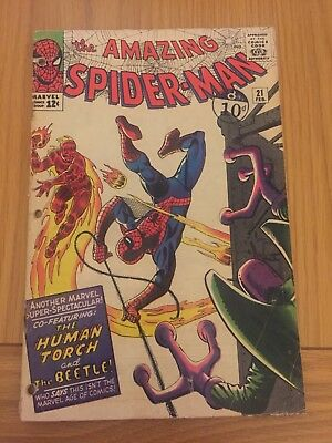 Amazing Spiderman #21 1st app The Beetle Silver Age 1964