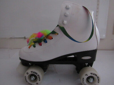 Epic Skates Epic Allure Light Up Quad Roller Skates Size  7, White