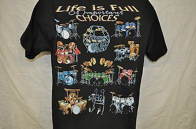 NWT Life is Full of Important Choices T Shirt Drummer Drum Rock and Roll-MEDIUM
