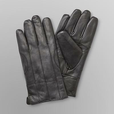 Men's Winter Premium Lambskin Thinsulate Lined Black Driving Dress Gloves