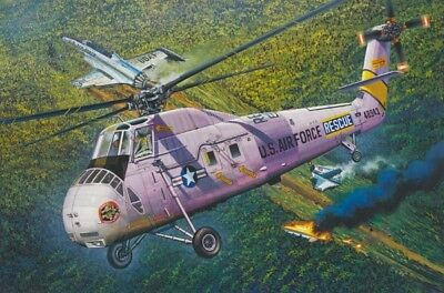 HH-34J USAF COMBAT RESCUE BY MRC KIT Trumpeter 1:48 TR64104 Model