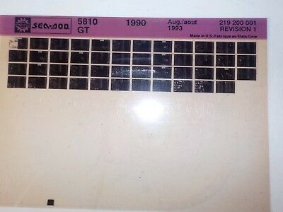 1990 Sea Doo Microfiche Parts Catalog 5810 GT 219 200 001 Rev 1