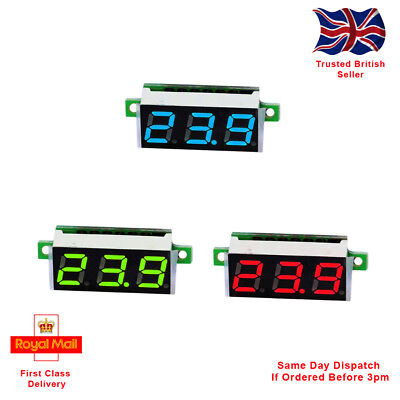 0.28 Inch 2.5V - 30V Mini Digital Voltmeter Voltage Tester Meter. 3 Colours.