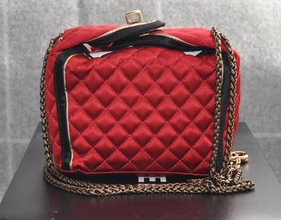 c05cd172a9f8 NEW Chanel Limited Runway Shanghai Red Take Away Bag Box Satin Suede RARE  NIB