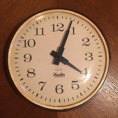 Vintage Franklin Office Wall Clock - Battery Operated