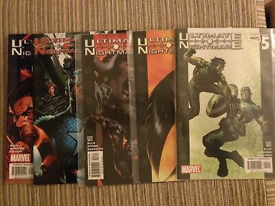 ULTIMATE NIGHTMARE 1-5 Warren Ellis MARVEL comics COMPLETE SERIES RUN SET LOT