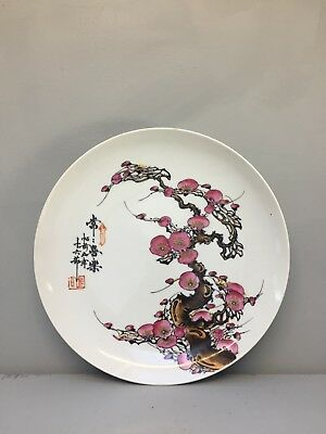 VINTAGE HAND PAINTED PORCELAIN PLATE FROM TAO FONG SHAN INSTITUTE Hong Kong