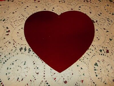 Vtg Valentine's Day Diecut Cardboard Decoration Large Foil Heart 12""