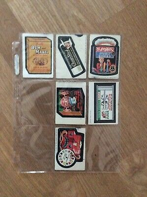 Vintage 1970's  Topps Wacky Packages Stickers Lot