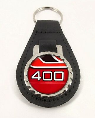 YAMAHA RD 400 RED  leather motorcycle keychain