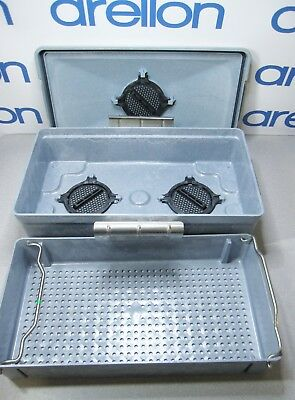 STERIS AMSCO MEDICAL INSTRUMENT STERILIZATION / STORAGE TRAY CONTAINER 23 x12 x6