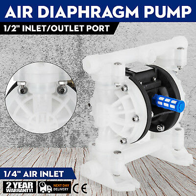 """1/2"""" Air Driven Double Diaphragm Pump QBY4-15 100PSI Easy to assemble GREAT"""