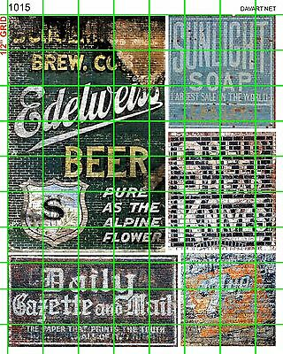 1015 Dave's Decals Knives Newspaper Soap Soda Building Advertising Ghost Signs