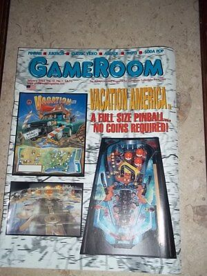 GameRoom Magazine -Jan 2003 Vol 15. No 1. Free Shipping!