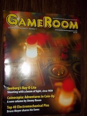 GameRoom Magazine -  Jan 2009 Vol.21 No.1 Free Shipping!