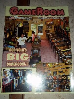 GameRoom Magazine -Sept 2005 Vol 17. No 9. Free Shipping!