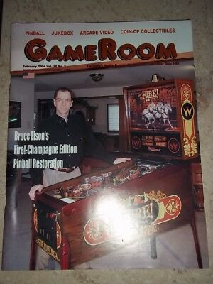 GameRoom Magazine Feb 2004 Vol 16. No 2. Free Shipping!