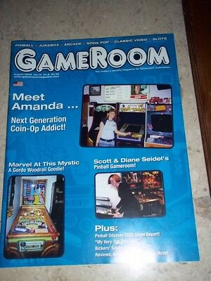 GameRoom Magazine -Aug 2002 Vol 14. No 8. Free Shipping!