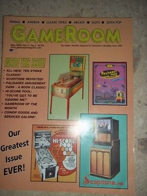 GameRoom Magazine - May 2003 Vol.15 No.5  Free Shipping!