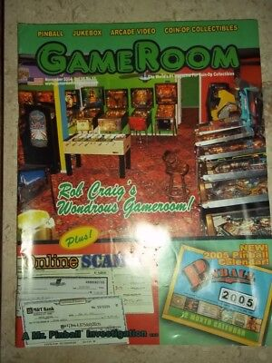 GameRoom Magazine Nov 2004 Vol 16. No 11. Free Shipping!
