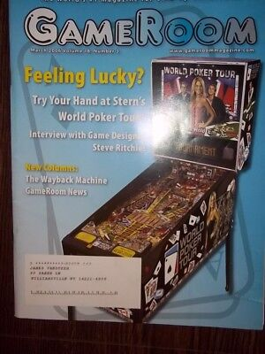 GameRoom Magazine -   March 2006 Vol.18 No.3 Free Shipping!