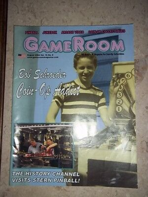 GameRoom Magazine Aug 2004 Vol 16. No 8. Free Shipping!