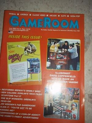 GameRoom Magazine - June 2003 Vol.15 No.6 Free Shipping!