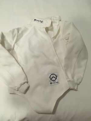Child's Leon Paul fencing kit size Junior 34 including plastron and glove