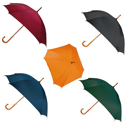 3 Special ocassion Automatic 8 rib square umbrellas in 5 colours crooked handle