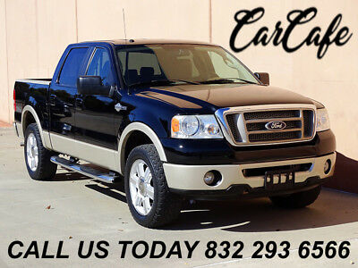 2007 Ford F-150 CREW CAB KING RANCH 2WD 07 FORD F150 CREW CAB KING RANCH 5.4L V8 2WD! LEATHER SEATS! RUNNING BOARDS!